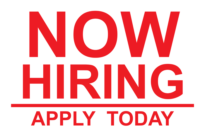 Now Hiring, Jobs available