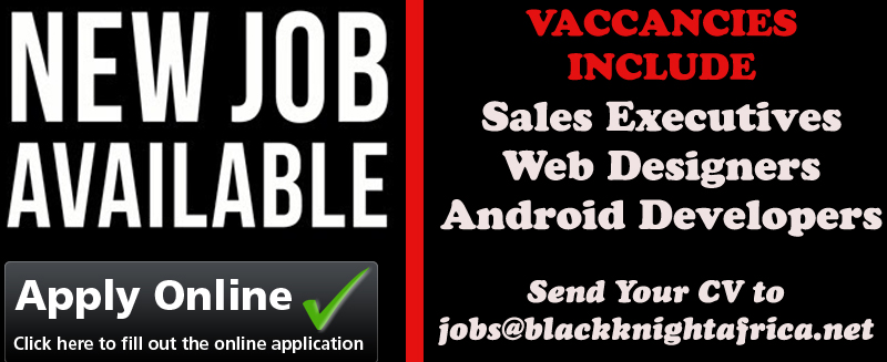 sales executives, web designers, android developers wanted in uganda at blackknight africa for job openings