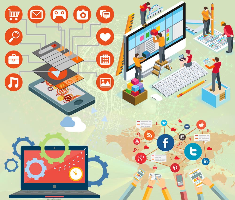web hosting, website design, mobile app development, digital marketing